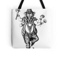 God Ganesha ink pen drawing Tote Bag