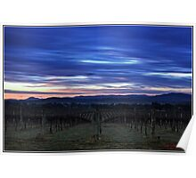 HDR Sunrise behind Holt/Canberra/ACT Poster