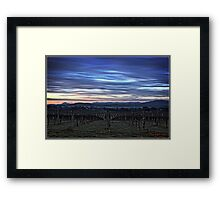 HDR Sunrise behind Holt/Canberra/ACT Framed Print