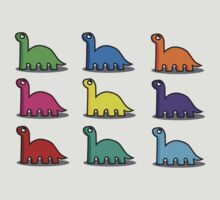Multicoloured Dinosaurs by Lauramazing