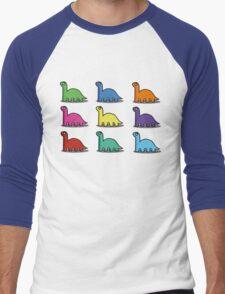 Multicoloured Dinosaurs Men's Baseball ¾ T-Shirt