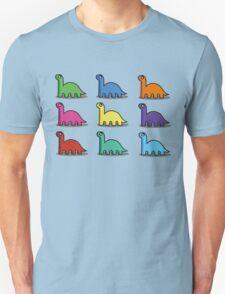 Multicoloured Dinosaurs T-Shirt