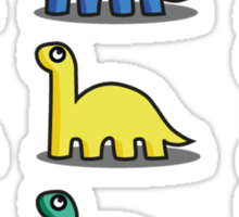 Multicoloured Dinosaurs Sticker
