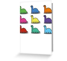 Multicoloured Dinosaurs Greeting Card