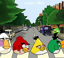 Abbey Birds - Poster by DanDav