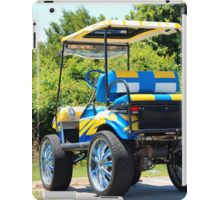 Two Tone Golf Cart iPad Case/Skin