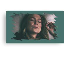Meredith Grey - sleeping Canvas Print