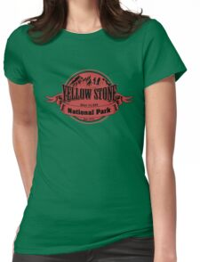 Yellow Stone National Park, Wyoming Womens Fitted T-Shirt