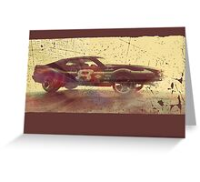 Vintage Look AMC Javelin Trans-Am Pony Car Greeting Card