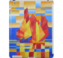 Sailing on the Seven Seas so Blue Cubist Abstract iPad Case/Skin