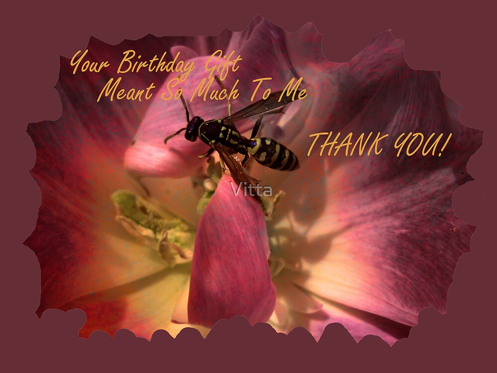 Greeting Card. THANK YOU! by Vitta