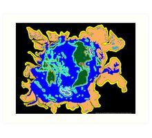 World Watersheds Art Print