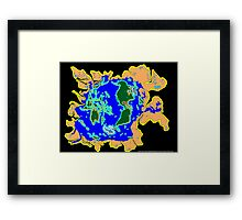 World Watersheds Framed Print