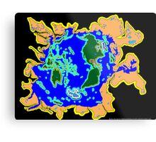 World Watersheds Metal Print