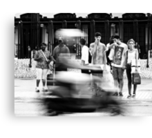 The Moped Canvas Print
