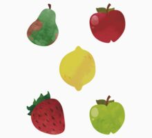 Delicious Lush Fruit Stickers by Claire Stamper
