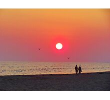 Couple Watching the Sunset Photographic Print