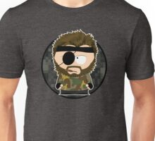 south metal snake (with background & white border) Unisex T-Shirt