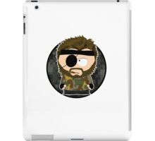 south metal snake (with background & white border) iPad Case/Skin