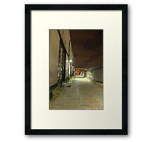 Yards on night Framed Print