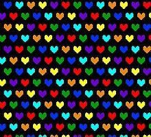 8-bit Hearts by xDominoe