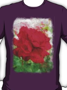 Red Rose Edges Sketchy T-Shirt