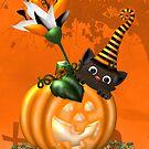 Cheeky Halloween Cat by LoneAngel