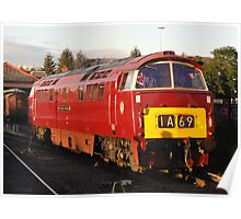 D1062 'Western Courier' at Kidderminster Poster