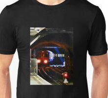 A Tube Train Arriving at Tower Hill Underground  Unisex T-Shirt