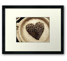 Coffee Cup Chocolate Heart Framed Print