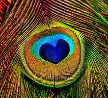 Peacock Feather Heart Eye by PhotographyTK