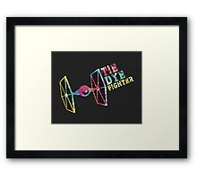Tie Dye Fighter Framed Print