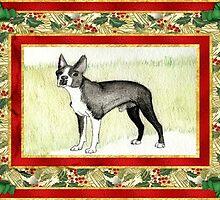 Boston Terrier Christmas by Oldetimemercan