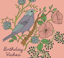 Birthday Bird and Flower by MADCreations