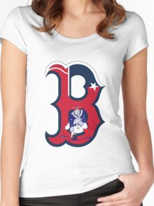 Boston Patriots  Women's Fitted Scoop T-Shirt