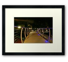 Blue lights bridge Framed Print