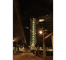 Lighted buildings  Photographic Print