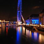 London Eye on night by santinopani
