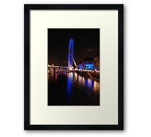 London Eye on night Framed Print