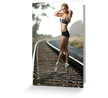 Ballet on the Tracks 2 Greeting Card
