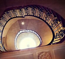 Courtauld Gallery Staircase III by Ludwig Wagner
