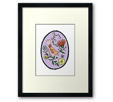 Oval Bird Greeting Framed Print