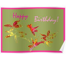 Greeting Card. Happy Birthday! Poster