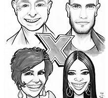Caricature - X-Factor Judges by Jan Szymczuk