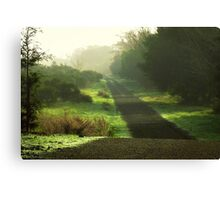 Do we ever really know what lies ahead? Canvas Print