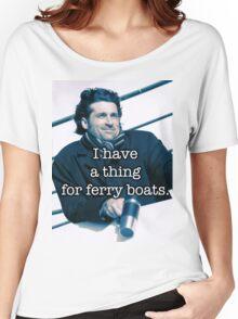 Derek Shepherd Ferry boats Women's Relaxed Fit T-Shirt