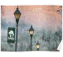 Streetlights In Twilight Poster