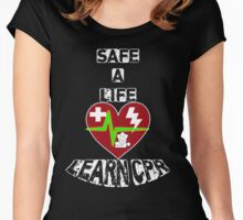 Safe a Life, Learn CPR Women's Fitted Scoop T-Shirt