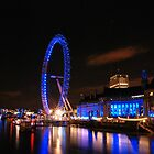 London Eye on night 2 by santinopani