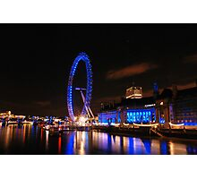 London Eye on night 2 Photographic Print